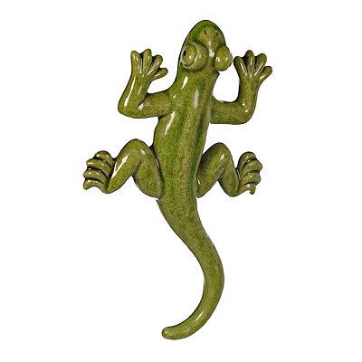 Green Ceramic Lizard Wall Plaque