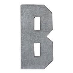 Monogram B Galvanized Metal Plaque