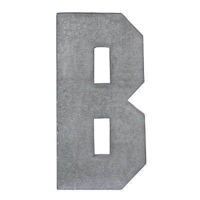Monogram B Galvanized Metal Plaque