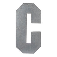 Monogram C Galvanized Metal Plaque