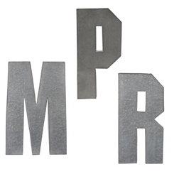 Monogram Galvanized Metal Plaques