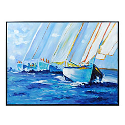 Sail Away Framed Canvas Art