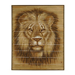 Framed Cecil the Lion Wooden Wall Art