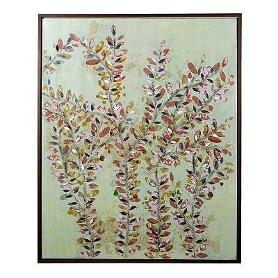 Mirrored Floral Framed Canvas Art