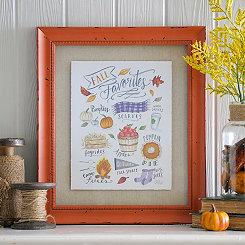 Fall Favorites Framed Art Print
