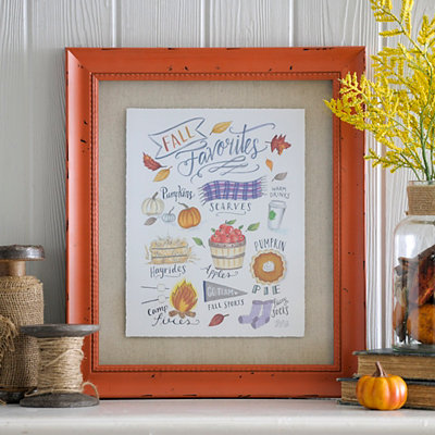Fall Favorites Framed Art Print