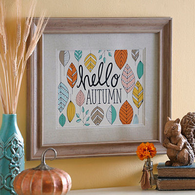 Hello Autumn Framed Art Print