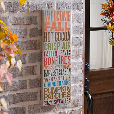 Welcome Fall Outdoor Canvas Art Print