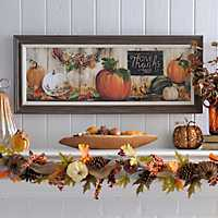 Give Thanks Pumpkins Framed Art Print
