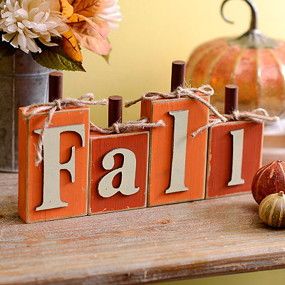 Fall Pumpkin Word Block