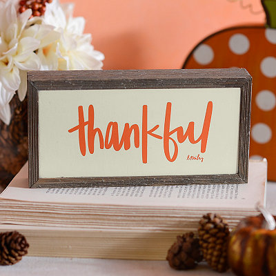 Thankful Barnwood Box Sign