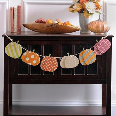 Geometric Pattern Pumpkin Banner