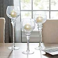 Crackle Glass Charismas, Set of 3