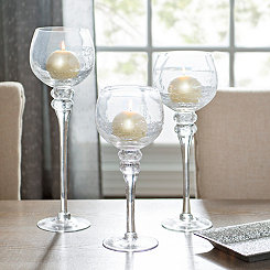 Crackle Glass Charismas, Set of 3