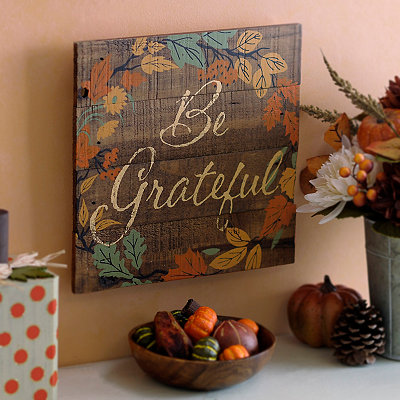 Be Grateful Wood Plaque