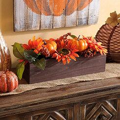 Sunflowers and Pumpkin Box Arrangement
