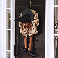 Witch Shoe Burlap Wreath