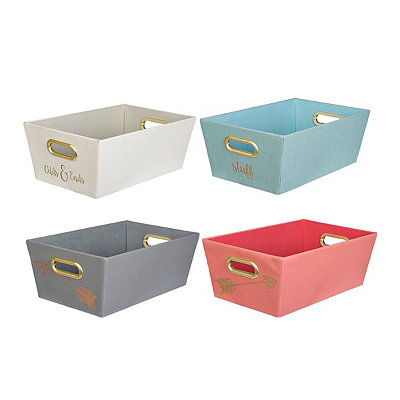 Metallic Gold Storage Bins