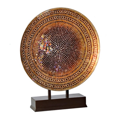 Chocolate and Gold Mosaic Charger Finial