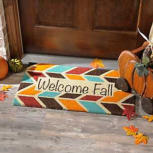 Geometric Welcome Fall Doormat