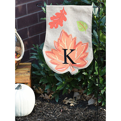 Fall Leaf Monogram Flag Set