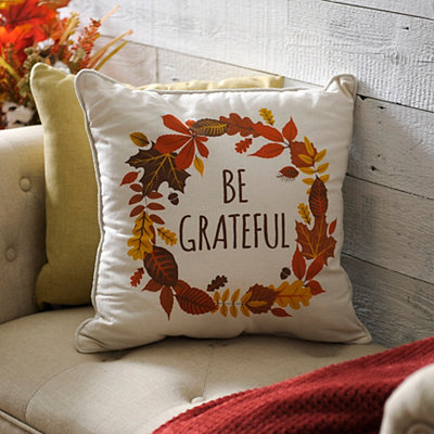 Be Grateful Pillow