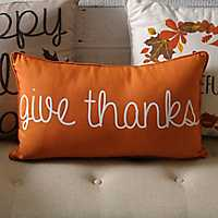Orange Give Thanks Pillow
