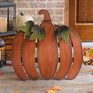 Rustic Wooden Pumpkin Easel, 25 in.