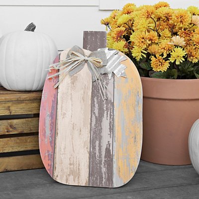Galvanized Rustic Pumpkin Easel, 19 in.