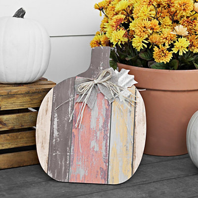 Galvanized Rustic Pumpkin Easel, 16 in.