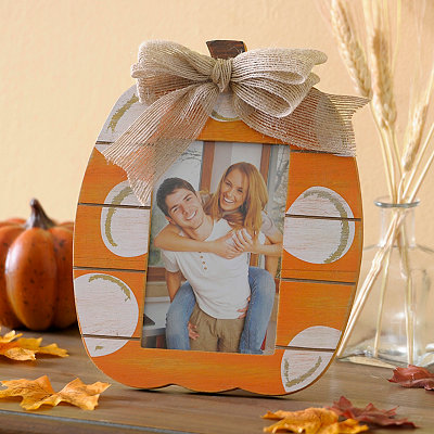 Polka Dot Pumpkin Picture Frame, 4x6