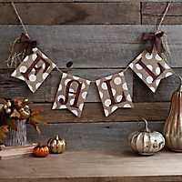 Bronze Polka Dot Fall Pennant Banner