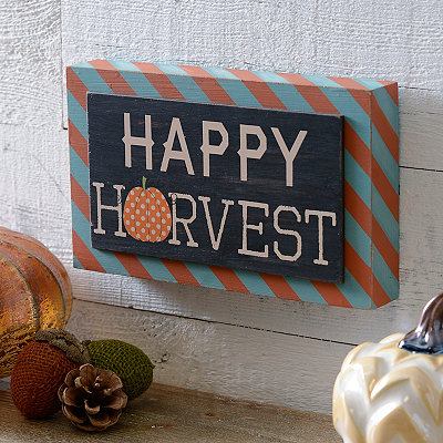 Happy Harvest Stripes Block