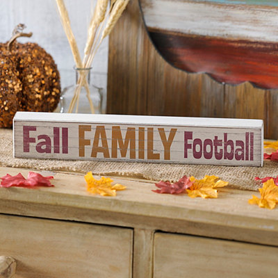 Fall Family Football Word Block