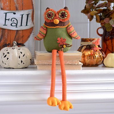 Harvest Owl Shelf Sitter