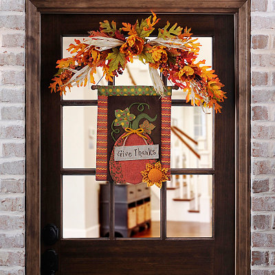 Give Thanks Pumpkin Wall Hanger