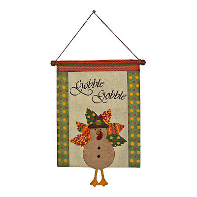 Gobble Gobble Turkey Wall Hanger