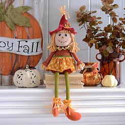 Scarecrow Girl Shelf Sitter