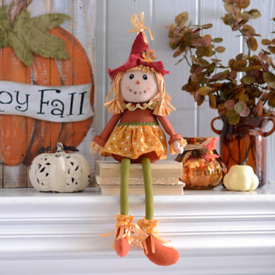 Scarecrow Girl Shelf Sitter