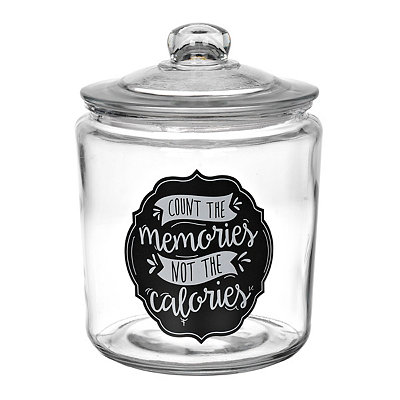 Count the Memories Glass Cookie Jar