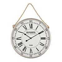 Sawyer Silver Rope Wall Clock