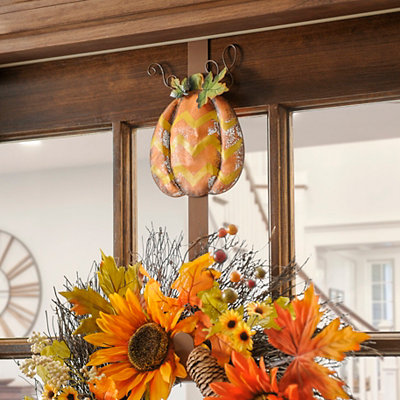 Chevron Pumpkin Wreath Holder