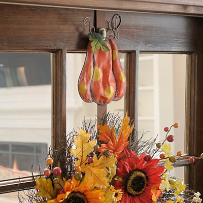 Polka Dot Pumpkin Wreath Holder