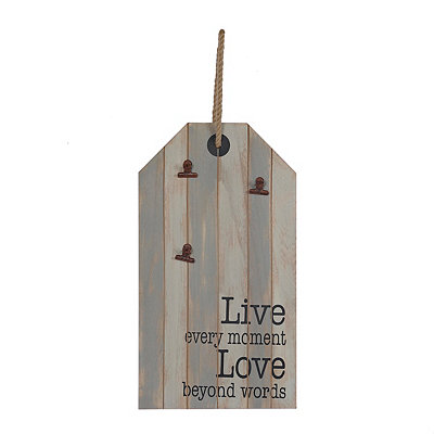 Live and Love Hang Tag 3-Clip Collage Frame