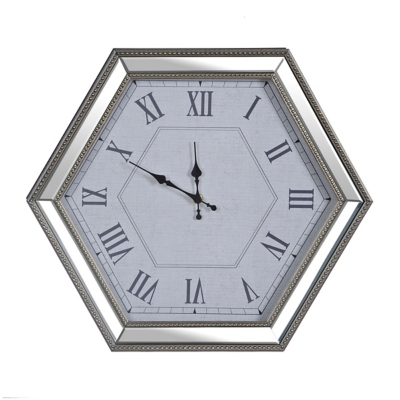 Magali Hexagon Mirrored Clock