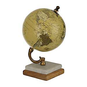 Natural Globe with Marble Base