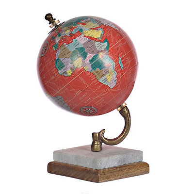 Red Globe with Marble Base