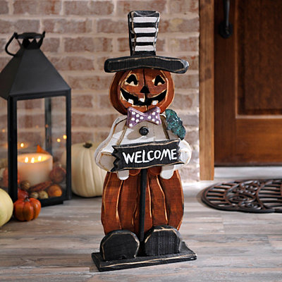 Halloween Welcome Pumpkin Man