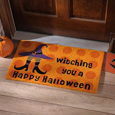 Happy Halloween Witch Shoe Doormat