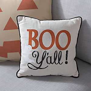 Boo Y'all Halloween Pillow